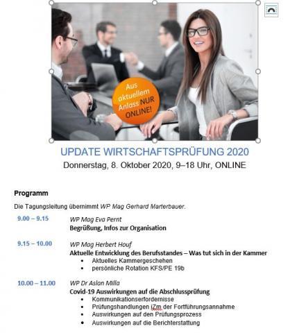 Programm Update WP 2020 Online